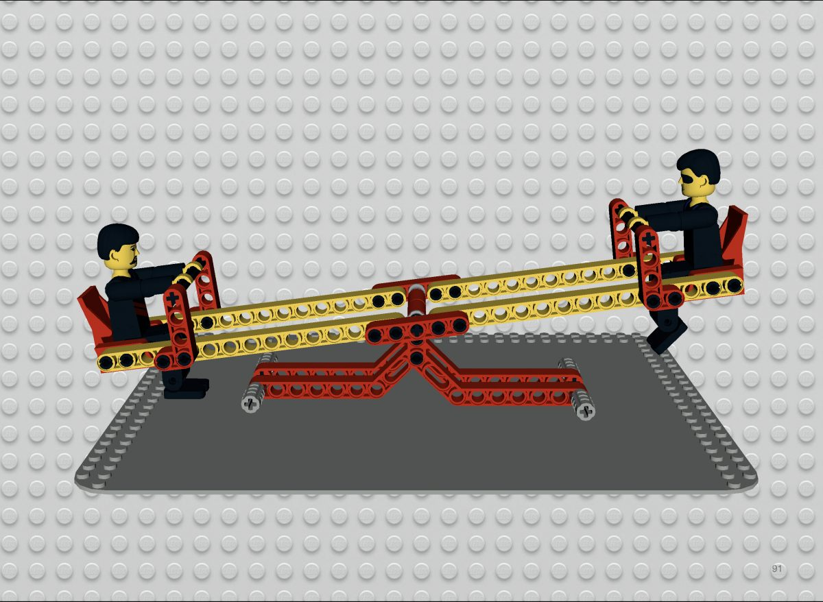LEGO Technic Seesaw model by Jorge Moreno