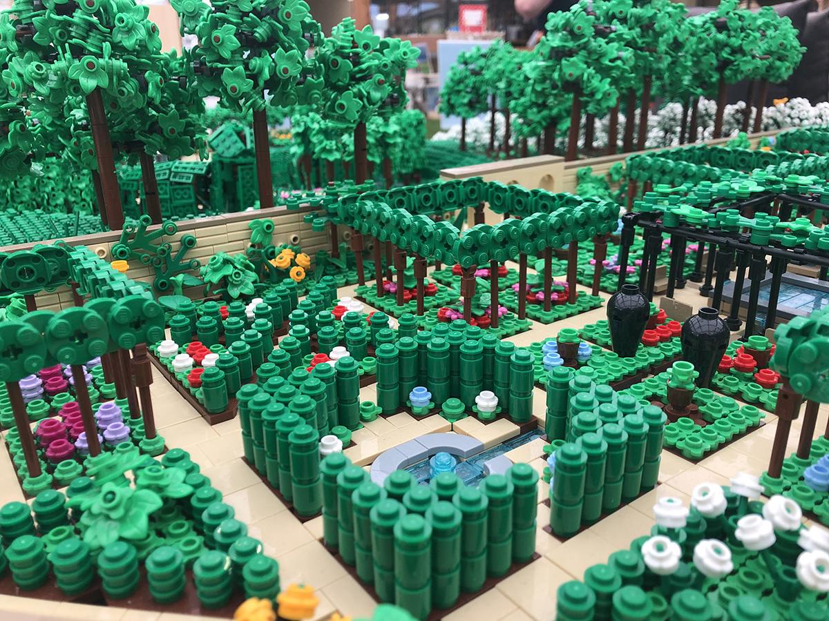 LEGO model of Alnwick Gardens