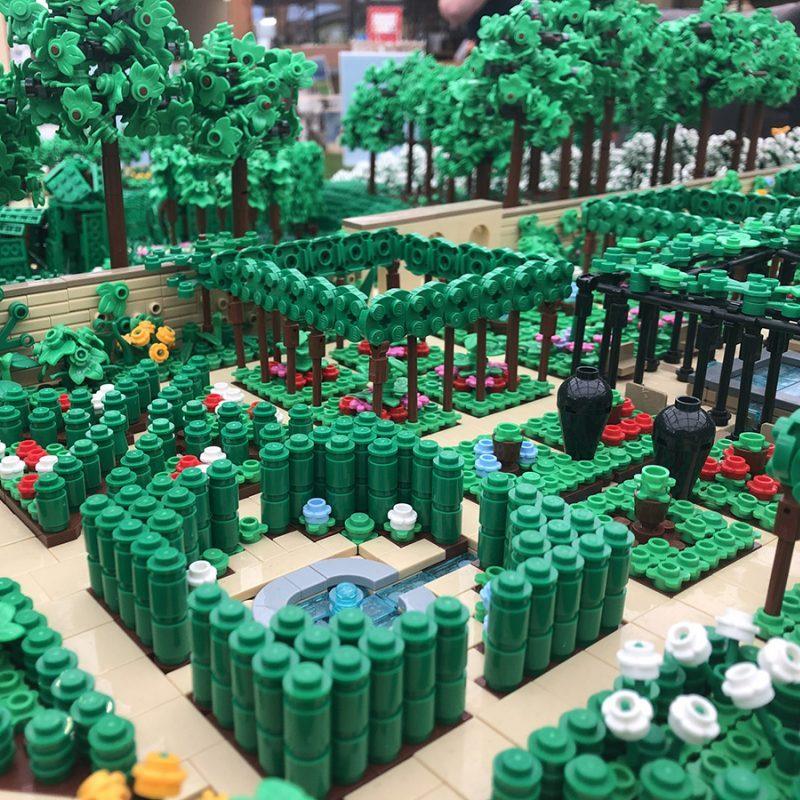 LEGO model design for The Alnwick Garden