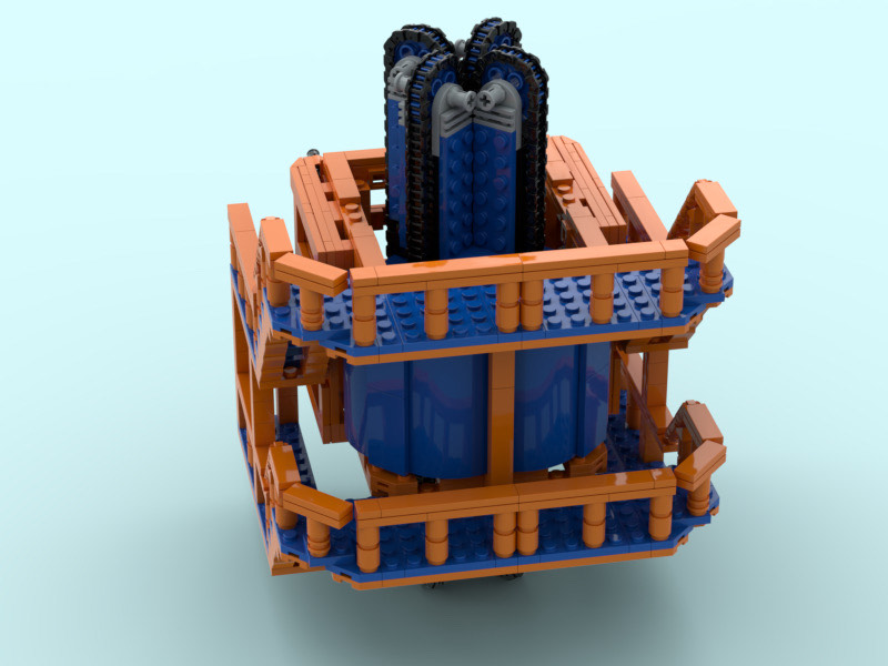 Render of the LEGO model's cable tensioner element