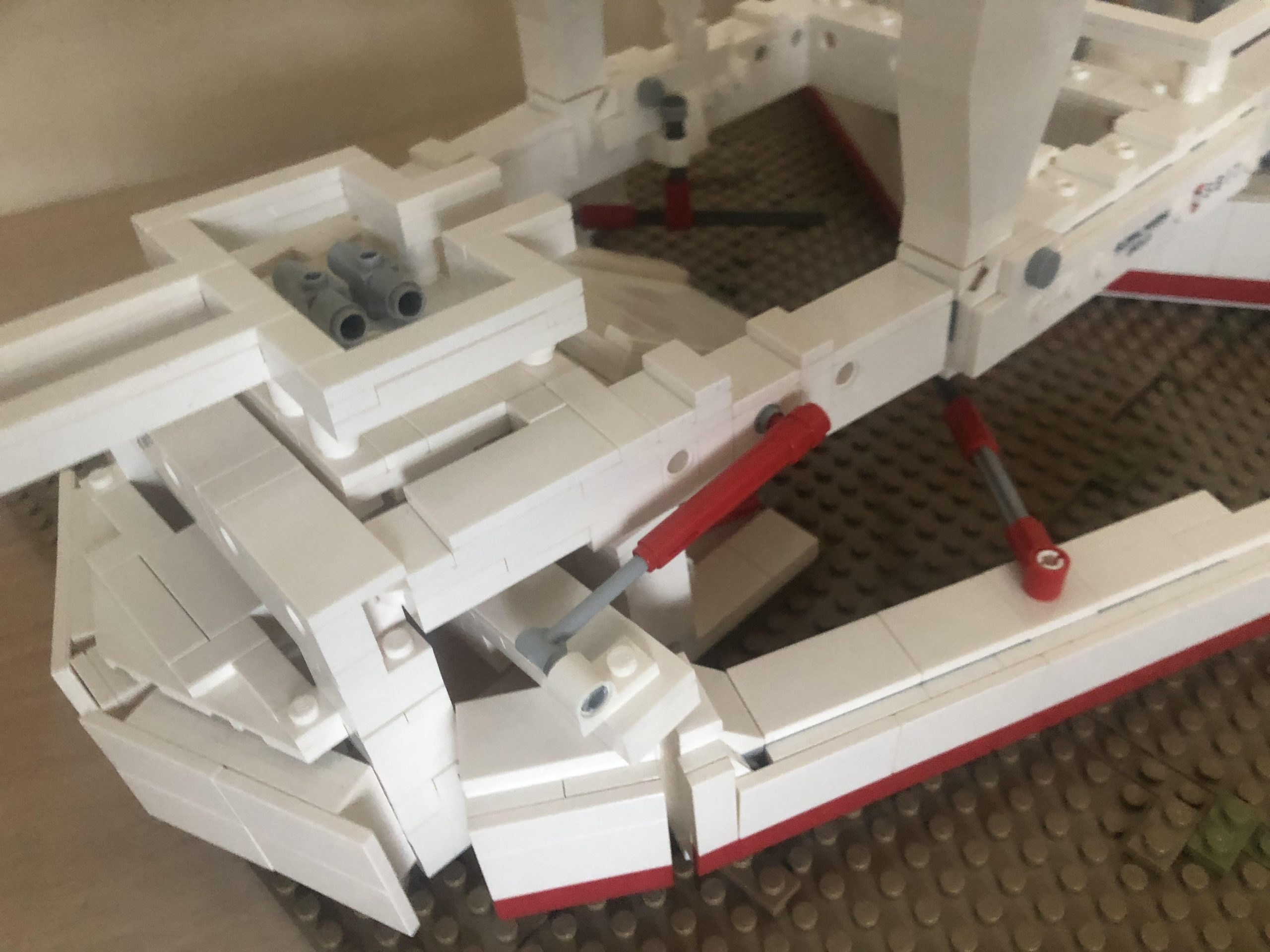 Detail of LEGO model of subsea plough by Osbit