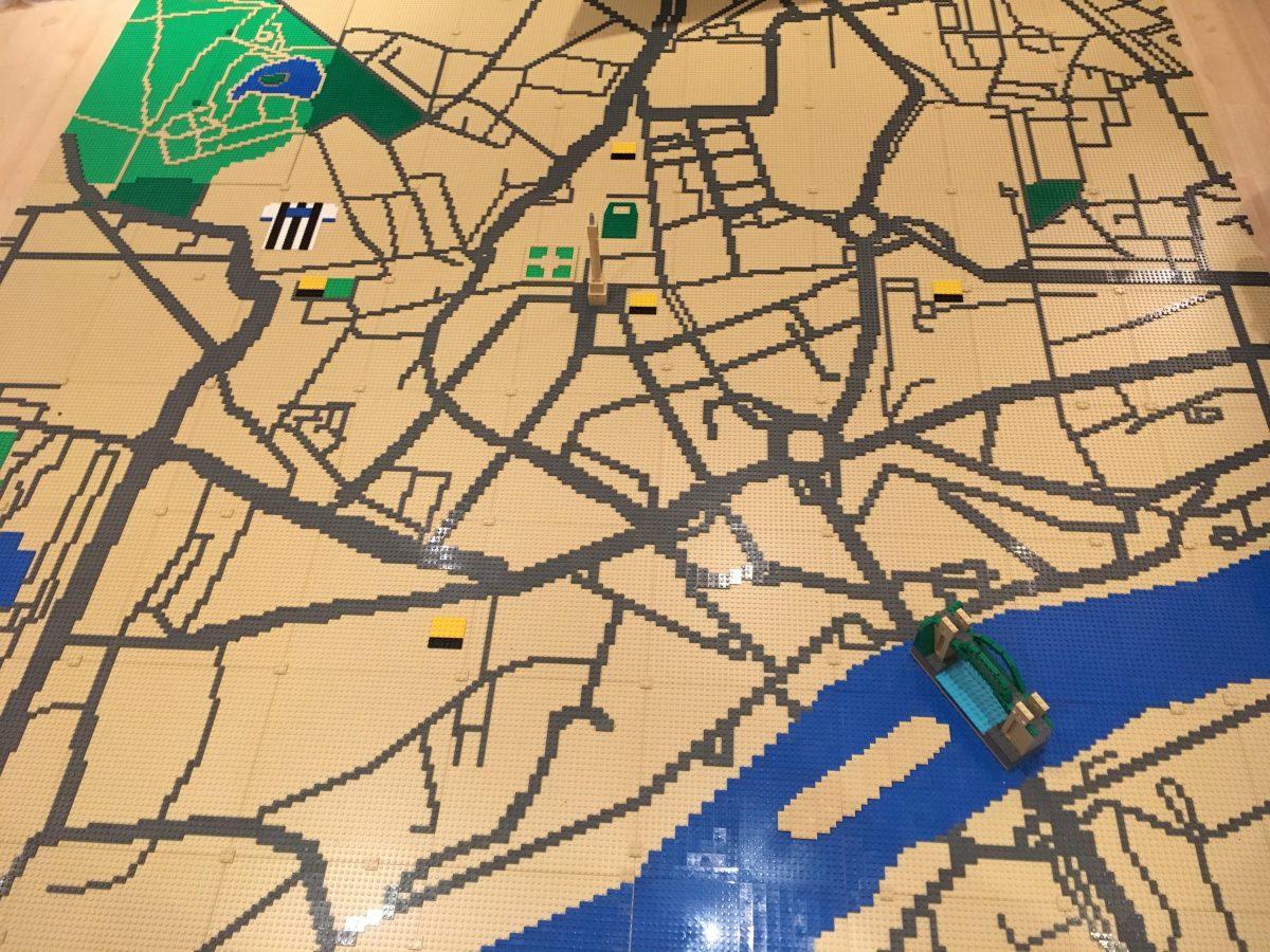 LEGO model of Newcastle upon Tyne map
