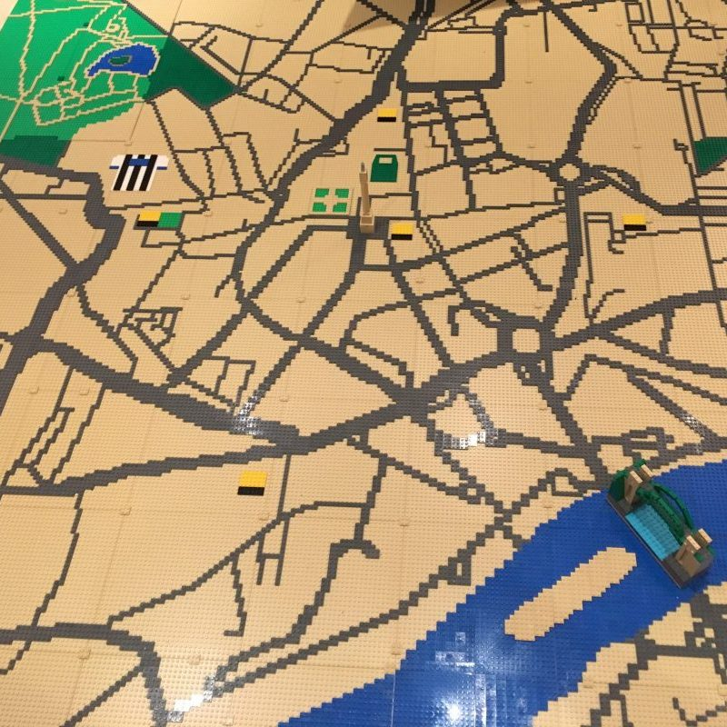 LEGO map of Newcastle upon Tyne for Discovery Museum