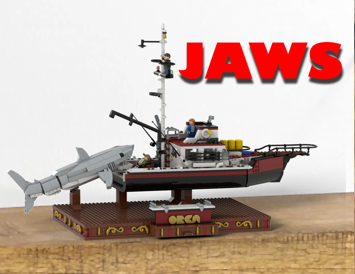 Paul's LEGO model of the Jaws set on Ideas