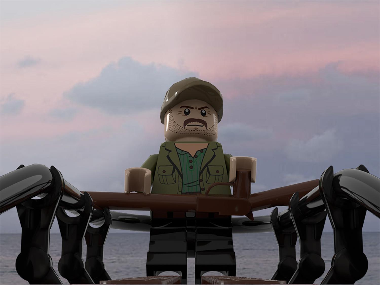 LEGO Jaws - Quint attack